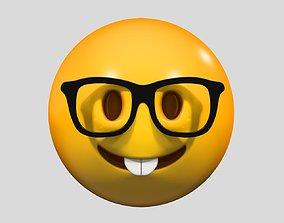 Emoji Nerd Face love 3D