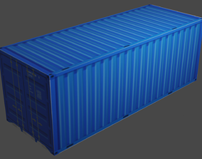 industrial Cargo Container 3D Model