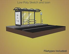 Busstop 3D model