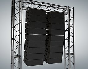 3D Line Array Concert Sound Speaker System Scaffolding 1