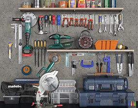 garage tools set 2 3D asset