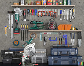 garage tools set 2 3D asset