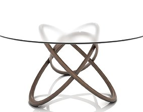 Interlocking Wooden Hoops Dining Table 3D asset