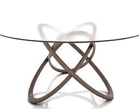 Interlocking Wooden Hoops Dining Table 3D asset