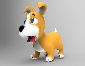 3D asset Dog Toon Model