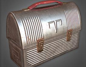 CON - Metal Lunchbox Pail - PBR Game Ready 3D asset