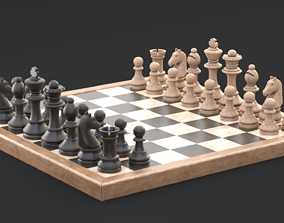 3D model Common chess game