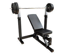 INCLINE BENCH PRESS 3D