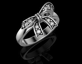 3D printable model Ring bow knot Gold 14k