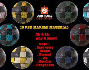10 PBR MARBLE TILE MATERIAL 3D model