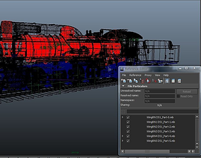 Steam locomotive D51 3D