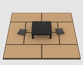 Tatami Table Pillow Set 3D