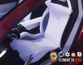 3D model PBR Sport Car Seat