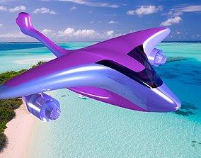 3D asset Futuristic Seaplane Exterior Design