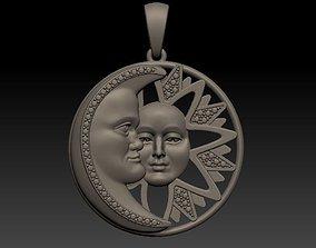 3D print model Sun and Moon - Pendant sun