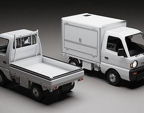 Suzuki Carry 1993 Kei Truck 3D model