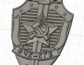 3D printable model KGB officer badge