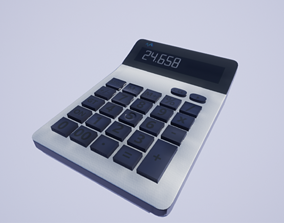 low-poly Calculator 3dmodell