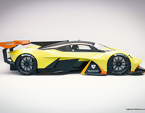 road Aston Martin AM-RB 001 3D model