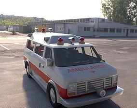 vintage ambulance vray 3D model