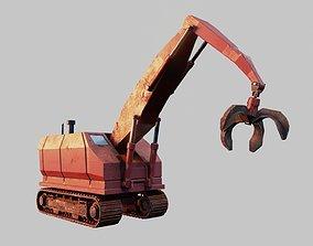 3D model Cartoon Crane