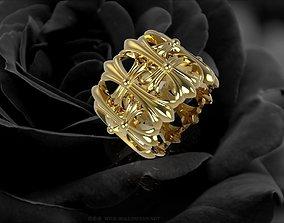 3D printable model 382 Chrome heart Ring