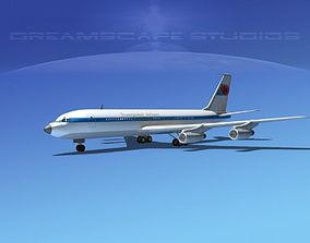 3D Boeing 707 Trans Global Airlines