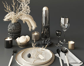 Tableware with heracleum 3D
