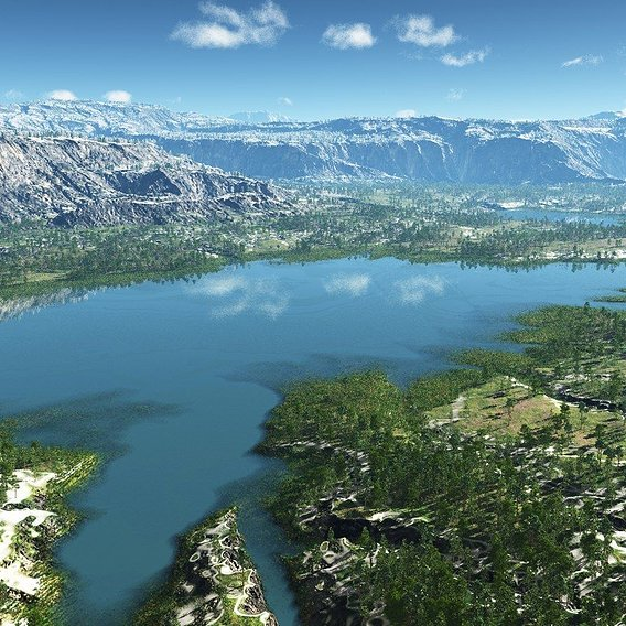 The lakes valley in Vue