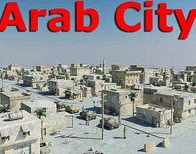 3D asset rigged Arab City 01