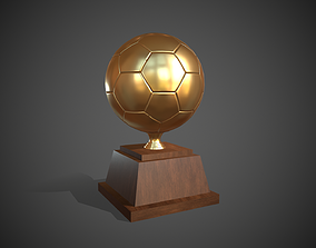 3D asset Trophy Golden Ball