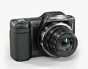 3D asset Olympus Stylus SZ15 Black