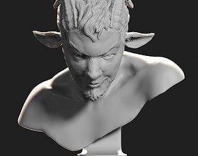 Faun bust sculpture 3D printable model