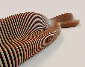 Parametric bench Wave-2 3D