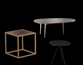3 tables 3D model