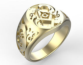 Gents Freemasons Ring 3ddesign 3D print model
