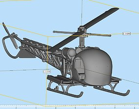 3D print model Bell H-13 Sioux Highly Detailed