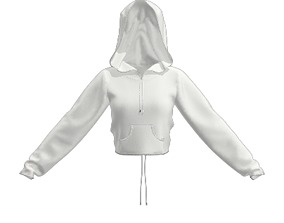 3D model Girls hoodie white