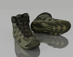 3D model low-poly Hiking boots