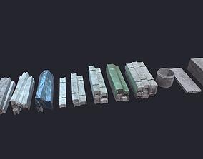3D asset Concrete Beam Well