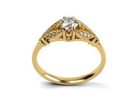 Edwardian Style Engagement Ring 3D print model