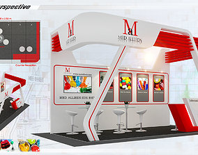 Booth Med Allieds design Size 3X5 15 sqm 3D model