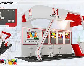 Booth Med Allieds design Size 3X5 15 sqm 3D model