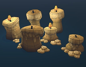 3D model Taj Pack - Candles
