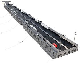Floating pier Pontone metal 3D