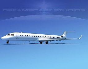 3D model Bombardier CRJ900 Unmarked 2