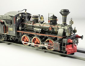 European Steam Locomotive Train Engine 3D model