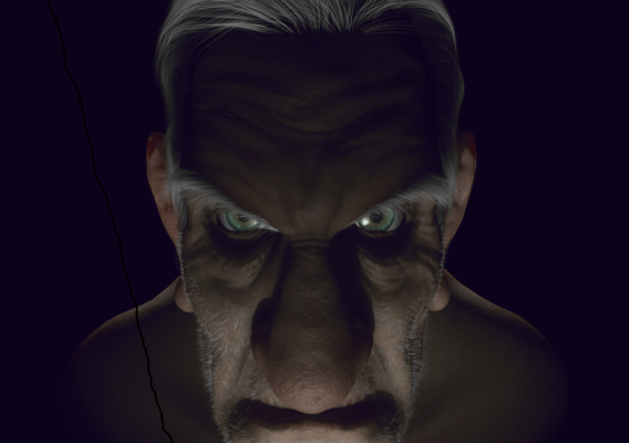 Old Man - High poly face