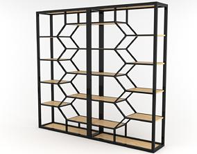 bookcase Double Book Shelf - 3ds Max