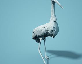 Low Poly Stork Model low
